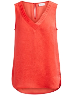 Vila Top VIRUSTIC NEW S/L SIMPLE TOP 14041464 Hot Coral