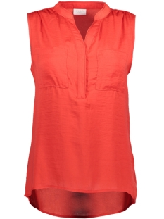 Vila Top VIMELLI S/L POCKET TOP - NOOS 14033198 Flame Scarlet