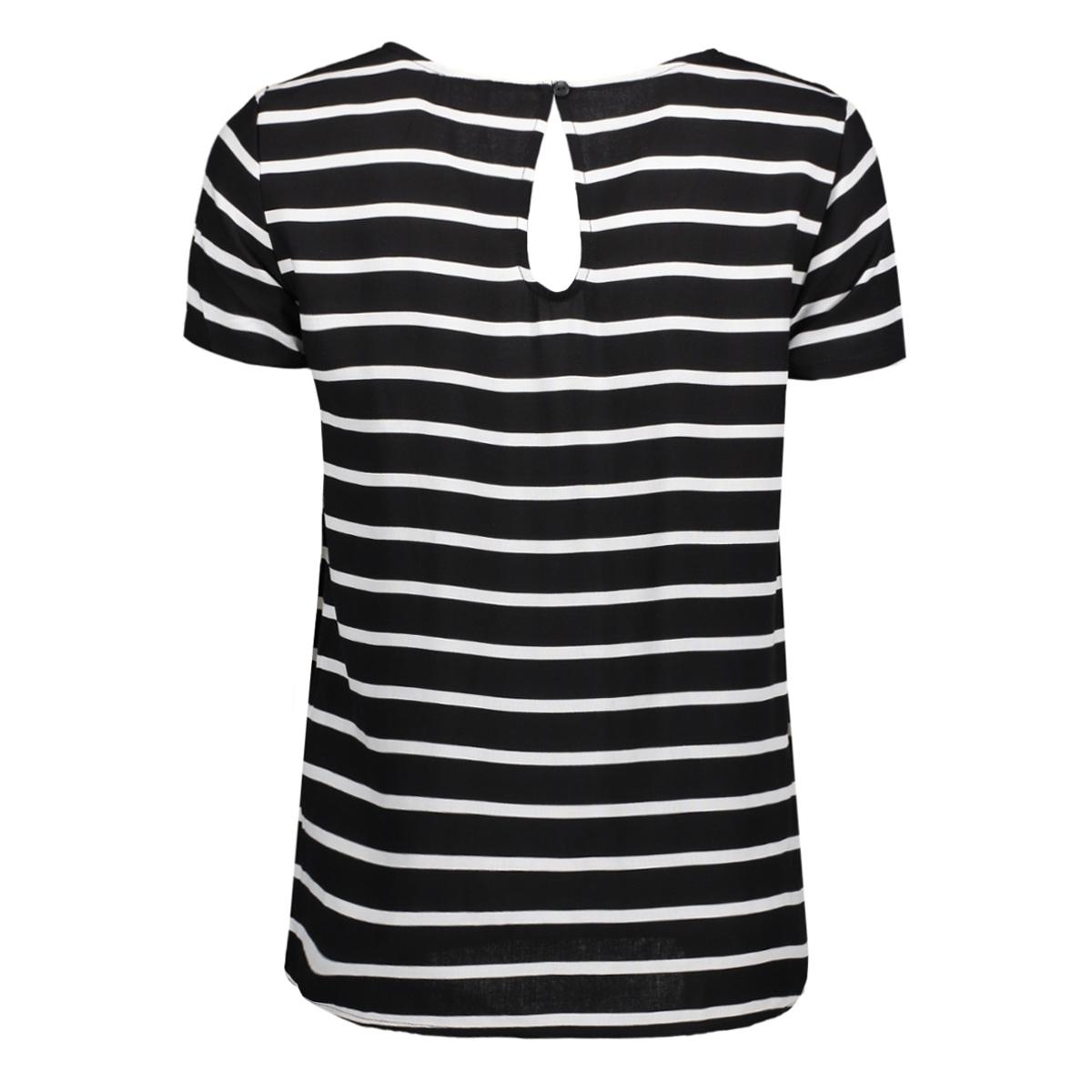 onlfirst ss mix aop top  noos wvn 15138761 only t-shirt black/ w. cloud dancer