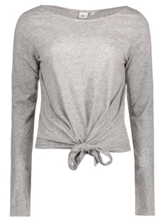 Object T-shirt OBJOLIVIA L/S PULLOVER .I 91 23024462 Medium Grey Melange