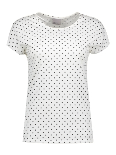 Vero Moda T-shirt VMSALLY S/S TOP BOX D2-3 10178152 Snow White/Black Dots