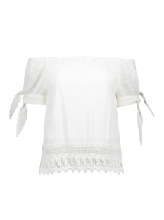 Vero Moda T-shirt VMAYA SS SHORT TOP A 10176887 Snow White