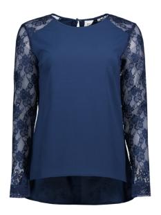 Object T-shirt OBJCAM L/S TOP CAMPAIGN 23022652 Insignia Blue