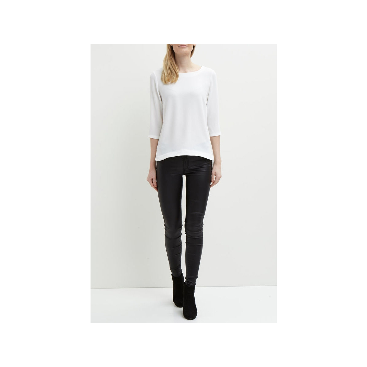 objcorlee 3/4 top noos 23024282 object t-shirt gardenia