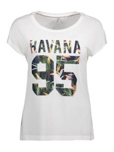 onlBECCY S/S HAVANA TOP ESS 15135707 Cloud Dancer/ Havana