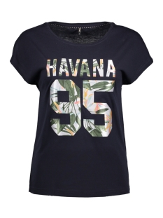 Only T-shirt onlBECCY S/S HAVANA TOP ESS 15135707 Night Sky/ Havanna
