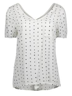 Vila T-shirt VIDOTTHEA ZIP TOP/1 14042506 Snow White/Total Eclipse