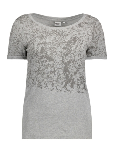 Object T-shirt OBJANNE S/S TOP 91 23024497 Light Grey Melange