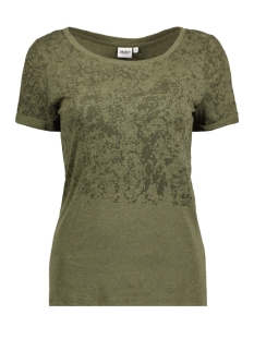 Object T-shirt OBJANNE S/S TOP 91 23024497 Ivy Green