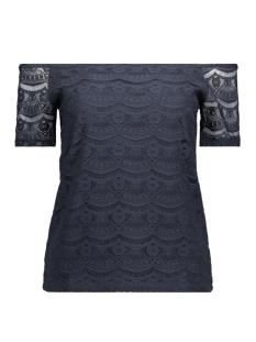 Vila T-shirt VIMONIE LACE OFF-SHOULDER TOP 14042056 Total Eclipse