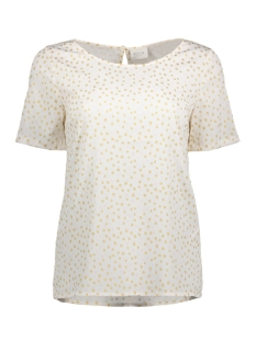 Vila T-shirt VIDOTS S/S TOP 14042092 Cloud Dancer/ Dots in Go