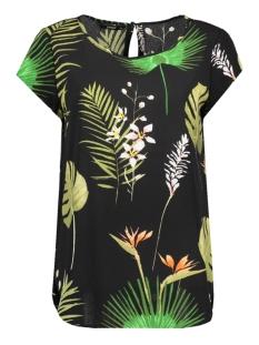 Only T-shirt onlNOVA AOP LUX S/S TOP  WVN 15139657 Black