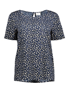 Vila T-shirt VIDOTS S/S TOP 14042092 Total Eclipse/ Dots in Go