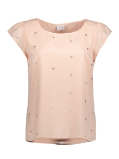 VIPANA S/S TOP 14043154 Silver Peony/ Gold Foil