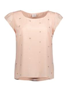 Vila T-shirt VIPANA S/S TOP 14043154 Silver Peony/ Gold Foil