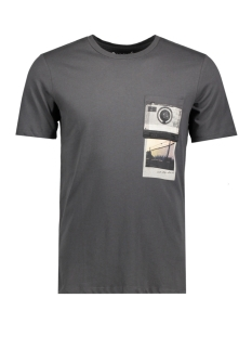 Jack & Jones T-shirt JORCHECK TEE SS CREW NECK 12121951 Asphalt