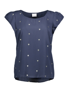 VIPANA S/S TOP 14043154 Total Eclipse/ Gold Foil