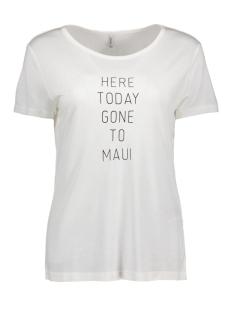 Only T-shirt onlNEW MARNIE S/S WINE/MAUI TOP BOX 15141822 Cloud Dancer