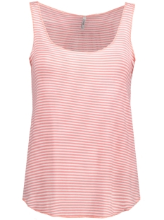 Only Top onlVIOLA S/L STRIPE TANK TOP BOX ES 15137289 Cloud Dancer/Strawberry