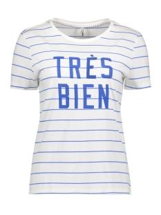 Only T-shirt onlCALLI S/S PALM/TRES TOP BOX ESS 15138262 Cloud Dancer/Blue