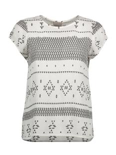 Vero Moda T-shirt VMJAMIE BOCA S/S TOP D2-4 10184956 Snow White/ Jamie Black
