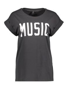 Only T-shirt onlGROOVY S/S ROCK/MUSIC LONG TOP B 15137347 Phantom