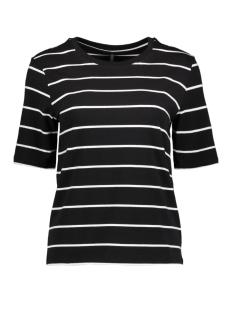 Only T-shirt onlLIVE LOVE TRENDY STRIPE SS O-NECK 15139111 Black/Cloud dancer