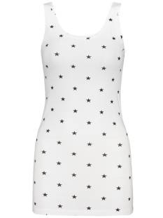 Only Top onlLIVE LOVE NEW AOP LONG TANK TOP 15140626 White/Black Star