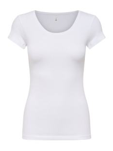 Only T-shirt onlLIVE LOVE NEW SS O-NECK TOP NOOS 15132306 White