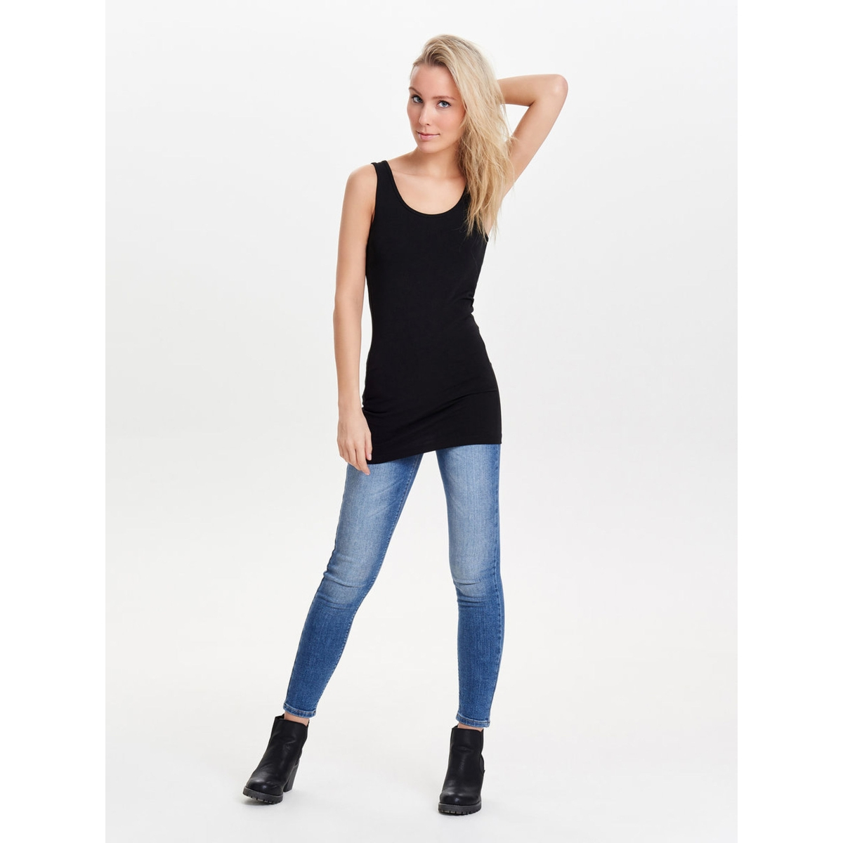 onllive love new long tank top noos 15132021 only top black