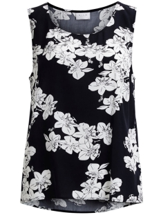 Vila Top VIMASA S/L TOP 14044043 Dark Navy/ FLower Pri