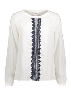 Vero Moda T-shirt VMJAS L/S MIDI TOP DNM 10179068 Snow White/ Embroidery