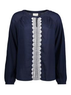 Vero Moda T-shirt VMJAS L/S MIDI TOP DNM 10179068 Navy Blazer/ Embroidery