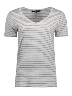 Vero Moda T-shirt VMLISITA S/S TOP FF17 10187636 Light Grey Melange/ Silver Lurex