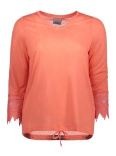 Vero Moda T-shirt VMMELANI 3/4 CROCHET TOP JRS A 10171969 Georgia Peach