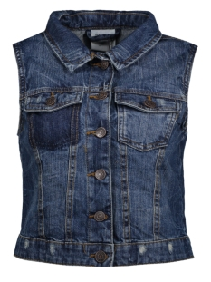 vmpaty sl denim waistcoat 10172358 vero moda gilet medium blue denim