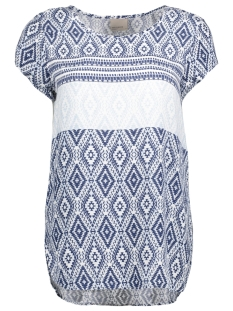 Vero Moda T-shirt VMBOCA SS BLOUSE BORDER PRINT 10184918 Plein Air/ Jasmin Print