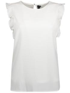 Vero Moda T-shirt VMVEGAS FRILL S/L TOP NFS 10189716 Snow White