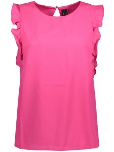 Vero Moda T-shirt VMVEGAS FRILL S/L TOP NFS 10189716 Beetroot Purple