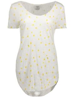Vero Moda T-shirt VMLUA PALM SS TOP BOX DNM JRS 10176812 Snow White/ Lemon