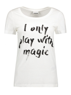 Noisy may T-shirt NMAXEL PRINTED T-SHIRT BOX 6X 10187606 Bright White