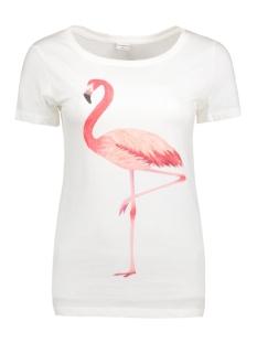 Jacqueline de Yong T-shirt JDYCHICAGO S/S PRINT TOP JRS 05 15131802 CLoud Dancer/Flamingo