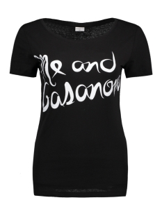 Jacqueline de Yong T-shirt JDYCHICAGO S/S PRINT TOP JRS 05 15131802 Black