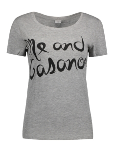 Jacqueline de Yong T-shirt JDYCHICAGO S/S PRINT TOP JRS 05 15131802 Light Grey Melange