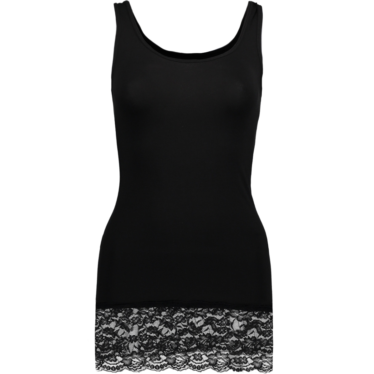 live love long lace tank top noos 15072354 only top black