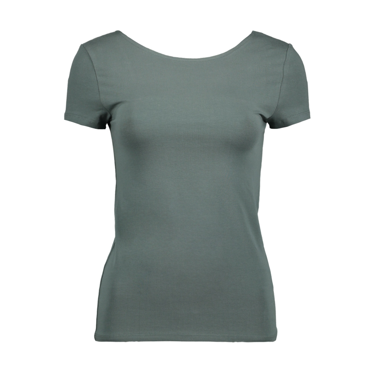 onllive love ss lace up top noos 15131597 only t-shirt balsam green