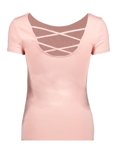 onllive love ss lace up top noos 15131597 only t-shirt rose smoke