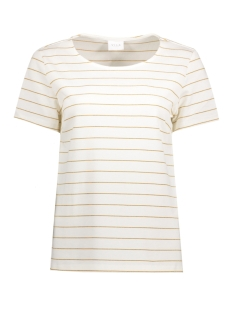 Vila T-shirt VITINNY METALLIC T-SHIRT 14043362 Cloud Dancer/Gold