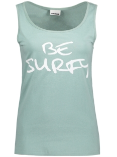 Noisy may Top NMSUMMER MIDI TANK TOP 4 10180376 Blue Surf