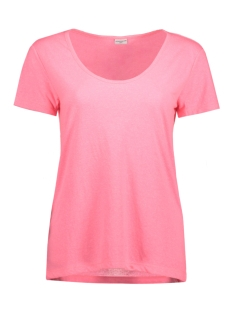 Jacqueline de Yong T-shirt JDYZADA S/S V-NECK TOP JRS 15135878 Shocking Pink